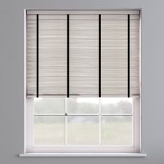 Faux Wood Venetian Blind With Tape - Granite White & Black