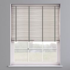 Faux Wood Venetian Blind With Tape - Granite White & Dark Grey