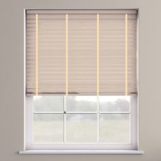 Faux Wood Venetian Blind With Tape - Lime White & Cream