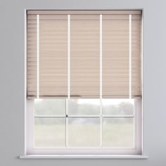 Faux Wood Venetian Blind With Tape - Lime White & White