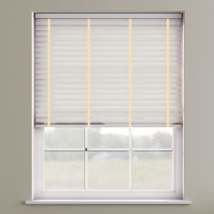 Faux Wood Venetian Blind With Tape - Meringue & Cream