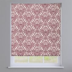 Meadow Berry Red Roman Blind