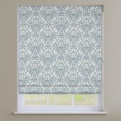 Meadow Cobalt Blue Roman Blind