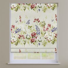Wild Meadow Magenta Floral Roman Blind