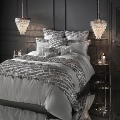 Kylie Minogue Eliza Sequin Tassel Duvet Cover - Pewter Grey