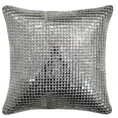 Kylie Minogue Square Crystal Filled Cushion - Silver Grey