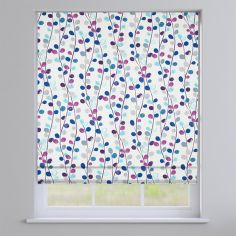 Suri Amethyst Purple Modern Leave Roman Blind