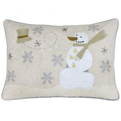 Advent Snowman Christmas Filled Boudoir Cushion