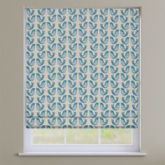 Scandi Birds Capri Blue Modern Roman Blind