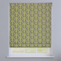 Scandi Birds Kiwi Green Modern Roman Blind