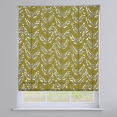 Scandi Spring Kiwi Green Leaves Roman Blind