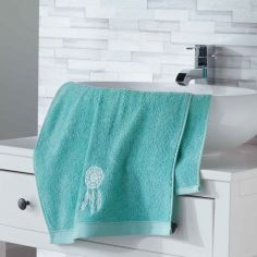 Talisman 100% Cotton Embroidered Towel - Mint Blue