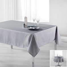 Palacio Silver Printed Tablecloth - Grey