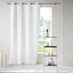 Icemount Thermal Insulating Blackout Eyelet Curtain Panel - White
