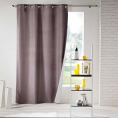 Icemount Thermal Insulating Blackout Eyelet Curtain Panel - Taupe