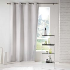 Icemount Thermal Insulating Blackout Eyelet Curtain Panel - Beige