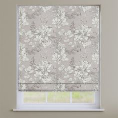 Scribble Wildrose Pink Floral Roman Blind
