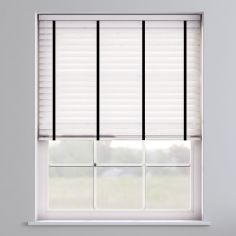 Faux Wood Venetian Blind With Tape - True White & Black