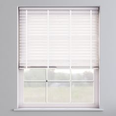Faux Wood Venetian Blind With Tape - True White & White