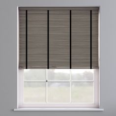 Faux Wood Venetian Blind With Tape - Whisper Smoke & Black