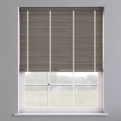 Faux Wood Venetian Blind With Tape - Whisper Smoke & Light Grey