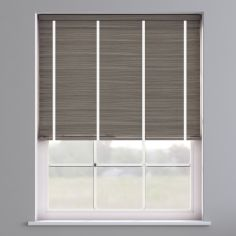 Faux Wood Venetian Blind With Tape - Whisper Smoke & White