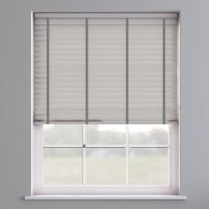 Faux Wood Venetian Blind With Tape - Pearl Grey & Dark Grey