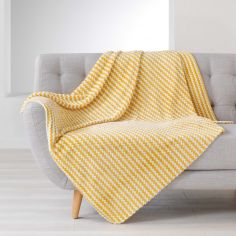 Denver Flannel Jacquard Throw - Yellow