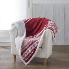 Finland Soft Sherpa Throw - Red