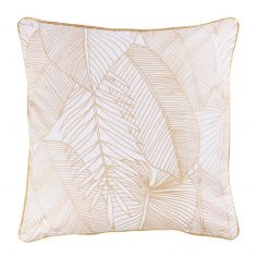 Gatsby 100% Cotton Cushion Cover with Metallic Print - Gold