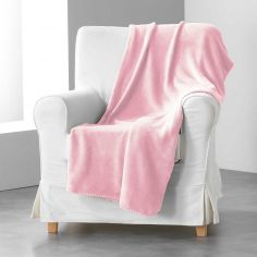 Louna Plain Soft Throw - Pale Pink