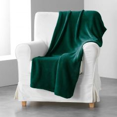 Louna Plain Soft Throw - Green