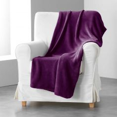 Louna Plain Soft Throw - Plum Purple