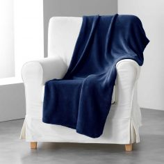 Louna Plain Soft Throw - Night Blue