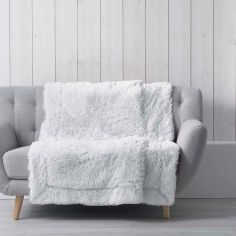 Marilou Faux Fur Throw Blanket - White