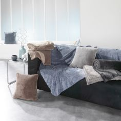 Sweden Soft Flannel Throw - Charcoal Grey
