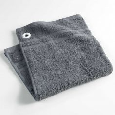 Popotte Plain Cotton Kitchen Hand Towel - Grey