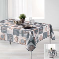 Hearty Photoprinted Tablecloth - Grey & Yellow