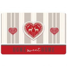 Edelweiss Heart Opaque Table Placemat - Red