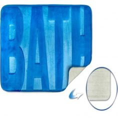 Spa Memory Foam Bath Mat - Blue