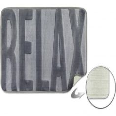 Spa Relax Memory Foam Bath Mat - Silver Grey