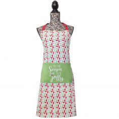 Tis The Season To be Jolly 100% Cotton Apron - Green & Red