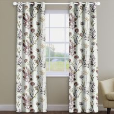 Allium Blossom Pink Floral Made To Measure Curtains