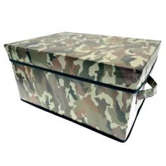 Camouflage Pop Up Storage Box - Green & Brown