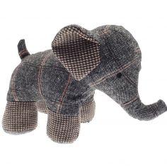 Grey Elephant Decorative Door Stop