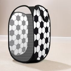 Football Pop Up Kids Room Tidy Storage - Black & White