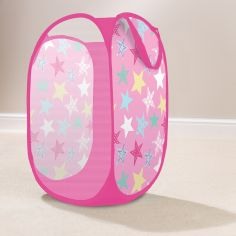 Stars Pop Up Kids Room Tidy Storage - Pink