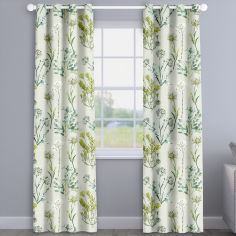 Allium Fennel Green Floral Made To Measure Curtains