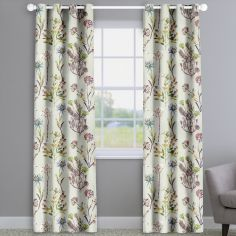 Allium Jewel Purple Floral Made To Measure Curtains