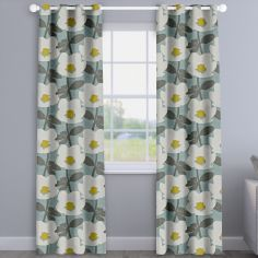 Bermondsey Duck Egg Blue Floral Made To Measure Curtains